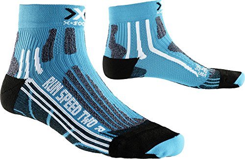 X-Socks Damen Laufstrumpf RUN SPEED TWO, Turquoise/Black, 35/36, X020436