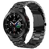 VISOOM Cinturino in metallo compatibile con Samsung Galaxy Watch 4 Classic da 46 mm, per uomini No Gaps Solider in acciaio inox Business Smartwatch di ricambio per Galaxy Watch 4 Classic 46 mm