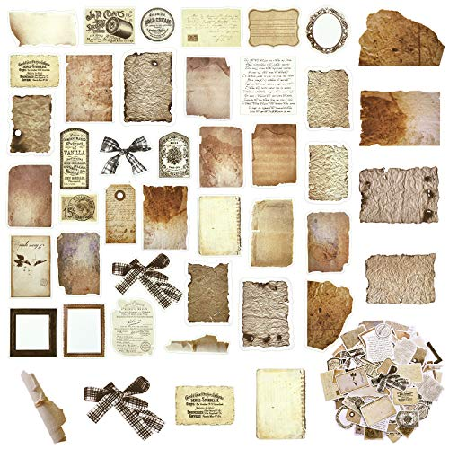 108 Pegatinas Vintage DIY de Papel para Álbum de Recortes Papel de Decoupage Pergamino Antiguo Clásico Papel...