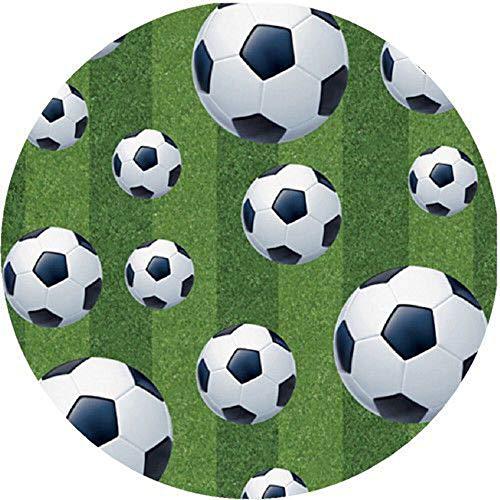 Fußball Thema Runde Tortenaufleger 20CM - Geburtstag Tortenbild Zuckerbild Tortenplatte Oblate Kuchenzuckerplatte