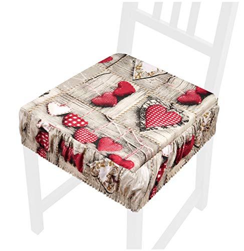 Cojín para silla de algodón desenfundable lavable, con banda elástica para interior y exterior, modelo AZALEA172