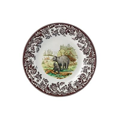 Spode Woodland American Wildlife Black Bear Salad Plate