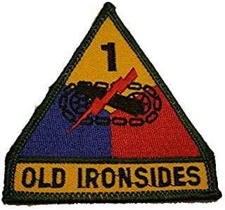 Embroidered Patch - Patches for Women Man - US Army 1ST First Armored Division AD Old Ironsides Veteran