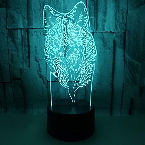 Lámpara Led 3D De Lobo Animal Luz De Noche De Mesa Usb Luz Multicolor De Lava Rgb Iluminación Luminaria Regalo De Navidad Lámpara De Altavoces Bluetooth