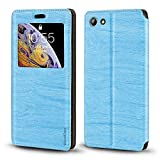 Elephone S7 Case, Wood Grain Leather Case with Card Holder