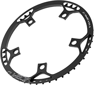 Toygogo Bicycle Single Speed Chainring (45T / 47T / 53T / 56T / 58T) 130BCD Narrow Wide Chain Ring for Road/Mountain/Folding Bike Fixie BMX MTB - 4 Colors