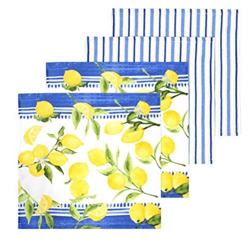 Food Network Lemons Dishcloth 4-Pack
