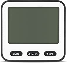 NITRIP Termómetros de Interior, Reloj Despertador multifunción Termómetro Digital electrónico Higrómetro LCD Temporizador para el hogar(Azul)