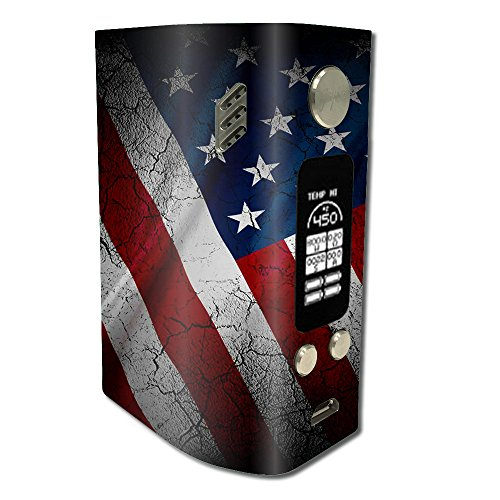 Skin Decal Vinyl Wrap for Wismec Reuleaux RX300 Vape Mod stickers skins cover/ American Flag distressed