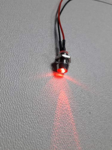 3x 5mm Blink-LED rot mit Fassung fertig verkabelt mit Widerstand für 12V