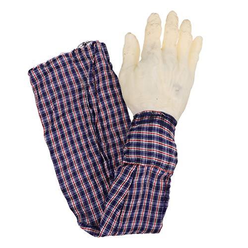 VOSAREA Horror Blutig Realistische Prothese Gefälschte Menschliche Körperteile Gruselig Abgetrennt Arm Gebrochen Hand Hand Trick Beängstigend Halloween Dekoration Requisiten