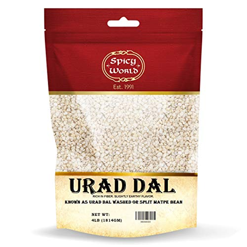 Spicy World Urad Dal 4 Pound (Matpe Beans Split, Urid Dal) - Perfect for Dosai, Idli, Vada, and more