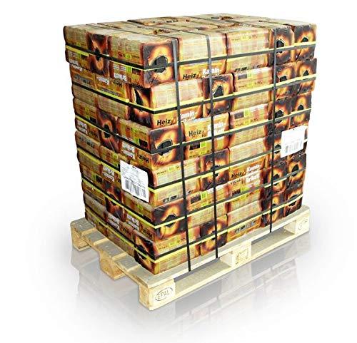 96 Bündel á 10kg Braunkohle Kaminbriketts volle Palette - hoher Energiegehalt dadurch sehr hohe Wärmeabgabe