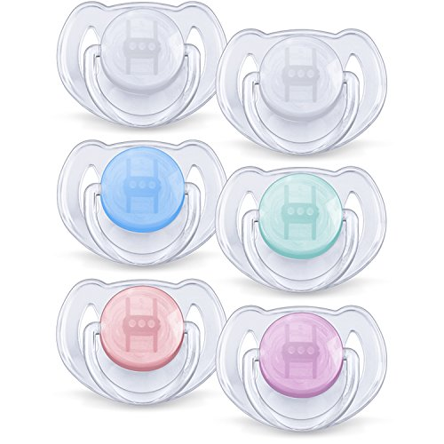 Lot de 2 Sucettes Transparentes Silicone 6-18 mois - Philips Avent