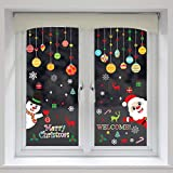150 PCS Christmas Window Clings Santa Claus Snowman Decals for Christmas Party Decorations