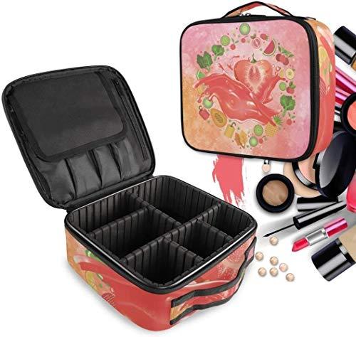 Cosmétique HZYDD Laisser Refroidir Le jus de Fraise Make Up Bag Trousse de Toilette Zipper Sacs de Maquillage Organisateur Pouch for Compartiment Femmes Filles Gratuit