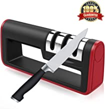 Kitchen Knife Sharpener,Areson 3-Stage Sharpening System Kitchen Knife Sharpener Handheld Sharpening Tool Helps Repair,Restore and Polish Blades