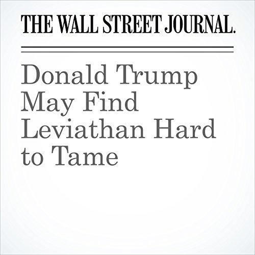 Donald Trump May Find Leviathan Hard to Tame copertina