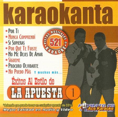 Great Features Of Karaokanta KAR-4521 - La Apuesta Vol. 1 Spanish CDG Various