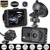 Damark HD 1080P Dual Lens Camera Car DVR Vehicle Video Recorder Rear Dash Cam G-sensor Night Vision Dash Camera DVR