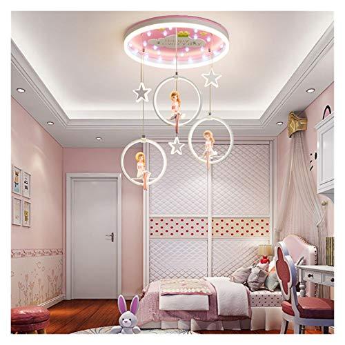 JSJJARF Lámpara Colgante Decoración del Dormitorio niña nórdica llevó Luces de Sala de lámparas de Techo Lámparas de lámparas de iluminación de Techo for Vivir decoración de la habitación