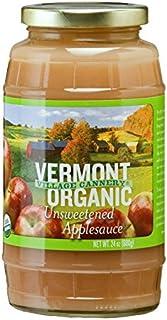 Vermont Village Cannery Applesauce Unsweet Organic, 24 oz