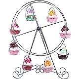 Supporto per Dessert con Cupcake a Forma di Ruota Panoramica - Circus Theme per Feste, Compleanni, Matrimoni - Contiene 8 Cupcakes - 43,2 cm