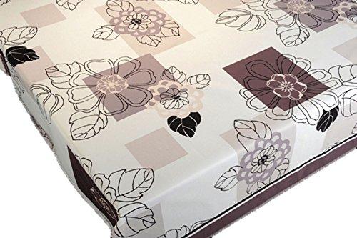ExclusivoCIR Nappe ronde anti-tâches à imprimé fleurs et aux couleurs printanières pour décoration d'intérieur 180 cm 240 x 150 cm