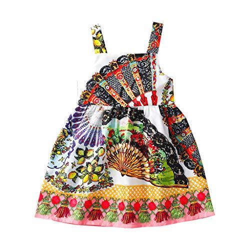 wuayi Bébé Fille Robes Nouveau-né Africain Imprimer Hors épaule Robe vêtements d'été