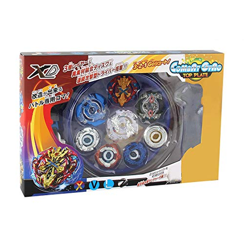 LIL Beyblade Burst with Launcher and Arena Battling Tops Gyro Metal Fight Battle Fusion Classic Toys for Kid,Blueplate