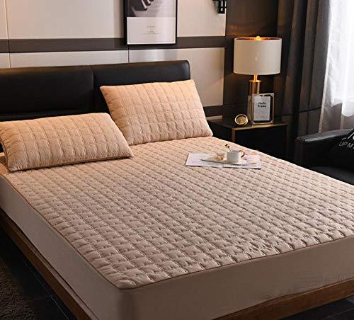 XLMHZP Lujosas sábanas Acolchadas de algodón, sábanas Estampadas Queen-fit, Protector de colchón King Antideslizante para niños y niñas-N_100x200cm + 30cm