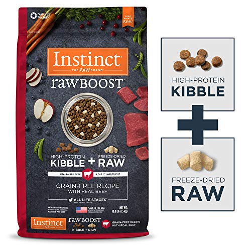 Instinct Raw Boost Grain Free Recipe with Real Beef Natural Dry Dog Food by Nature's Variety, 10 lb. Bag