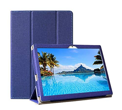 YGoal Funda para Meberry M6 -  Premium PU Cuero Stand Business con Multi- ángulo Folio Carcasa para Meberry 10 Pulgada M6,  Azul