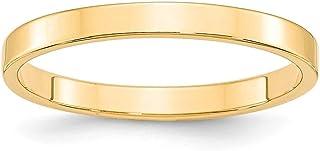 14ct oro Amarillo 2,5mm Ltw anillo de cinta plana–anillo tamaño opciones gama: H a Z