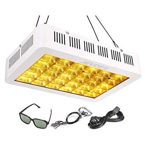 JEVDES Lámpara de Plantas, 600W Planta de luz para Plantas de Interior, LED Lámpara de Crecimiento de Planta de Espectro Completo Similar al Sol para plántulas Floración fructífera