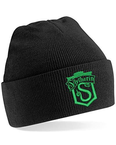 Bestickte Slytherin Wappen Logo Beanie Cap Magic Cube Speed Cube Puzzle Cube Cube Cube Hat Gr. One size, Schwarz