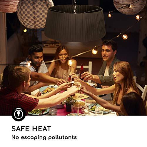 blumfeldt Venice Heat Terrassenheizstrahler • Infrarot-Heizstrahler • 800/1000/1800 W • Carbon-Heizelement • ComfortHeat • Easy Control • Aufhängemechanismus • Außengebrauch • Fernbedienung • Schwarz - 5