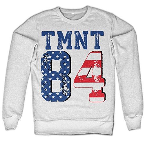 Teenage Mutant Ninja Turtles TMNT - USA 1984 Sweatshirt (White), Large