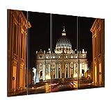 Bilderdepot24 Cuadros en Lienzo'Ciudad del Vaticano - Roma' 180x120 cm 4tlg...