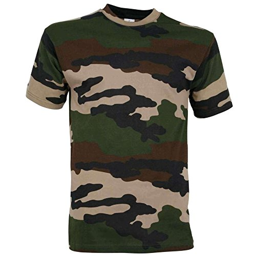Tee Shirt Camouflage Militaire Centre Europe
