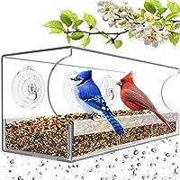 Remunkia Wild Bird Feeder Larger Capacity Sliding Seed Tray