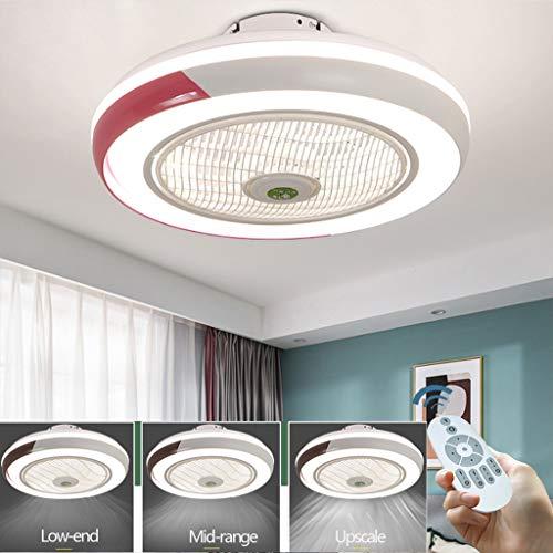 Ventilador De Techo LED Lámpara Creative Regulable Luz Del Ventilador Invisible Lámpara...