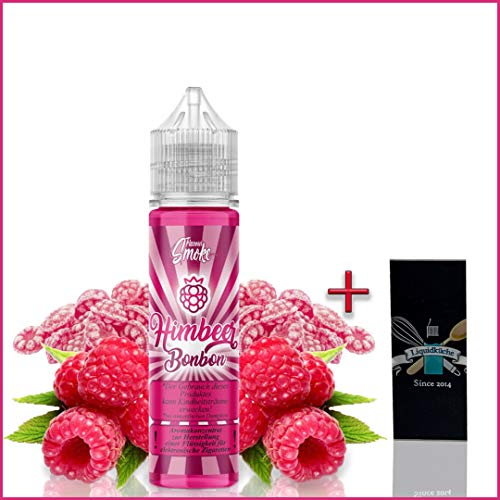 Flavour Smoke HimbeerBonbon 20ml Aroma + 1x Liquidküche Akku Sleeve Nikotinfrei | zum Mischen von Liquid für EZigaretten | Akkuschlauch Schutzhülle für deine Akkus | Konzentrat | Ohne Nikotin