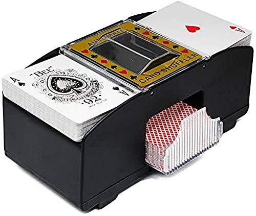 Spielkartenmischer - Automatischer Kartenmischmaschine Elektronische Poker- Kartenmischer Batteriebetriebener Elektrischer Mischer- Tragbarer Casino Kartenmischer- Professioneller Kartenmischer
