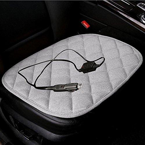 MIAO Auto-Sitz-Heizungs-Auflage, Winter-Autos 12V Single-Chip elektrische Heizungs-chemische Faser-Hanf-Sitz-Kissen , athens ash