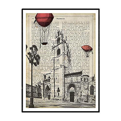 Nacnic Lámina Ciudad de PALENCIA con la Historia DE PALENCIA. Poster tamaño A4 Impreso en Papel