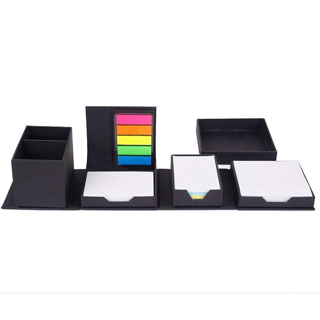 詩人パイント食い違いSHINA オフィスクラフト紙付箋ホルダー/ペンホルダー ユニークな構造設計 収納ボックス デスク用 200 付箋を含める 変更可能な形状 オーガナイザー