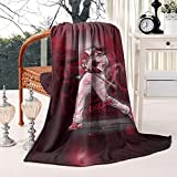 BYFKAN Fleece Blanket-59¡±x79¡± Cozy All Season Anthony-Rizzo-Chicago-44-red- Designed Blanket for Bed Couch Chair