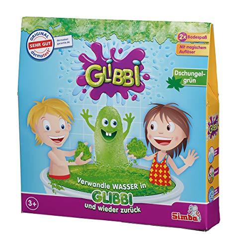 Simba Glibbi / Badewannenspielzeug / Pulver verwandelt Wasser in eine gelartige Masse und Wieder zurück / 2 Badewannenanwendungen