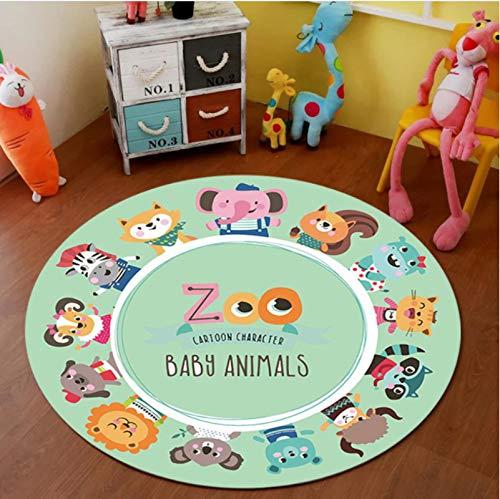 Haiqings Cartoon Teppich Runde Teppich Kinderzimmer Krabbeldecke rutschfeste Matte Baby Spielmatten Teppiche Dekor Home Floor 80cm